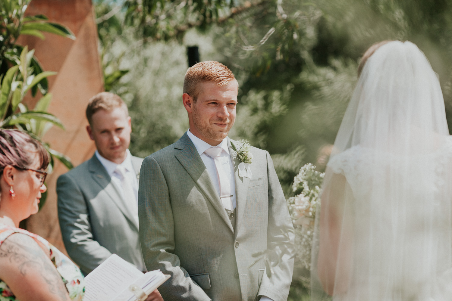 Groom saying his wedding vows
