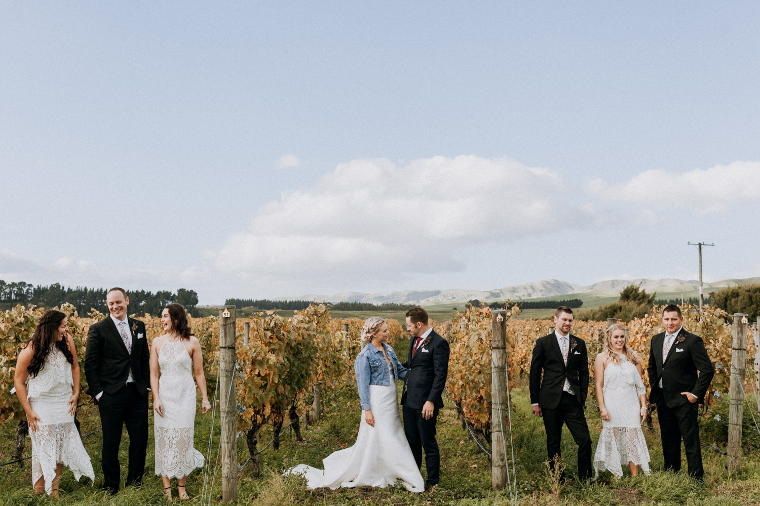 Vineyard bridal party photos