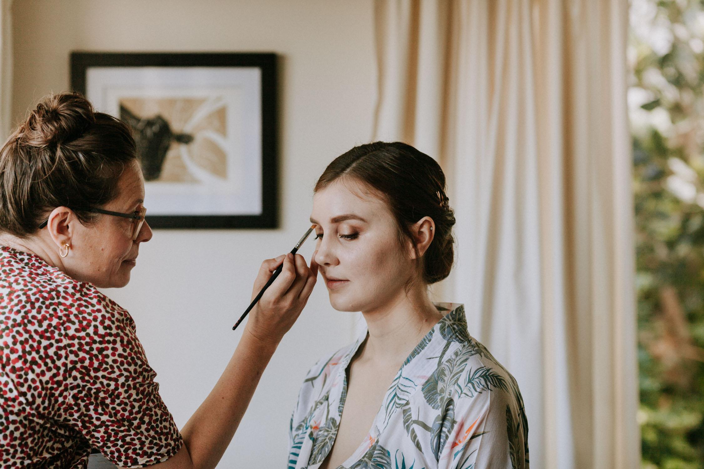 Bridal makeup Wellington
