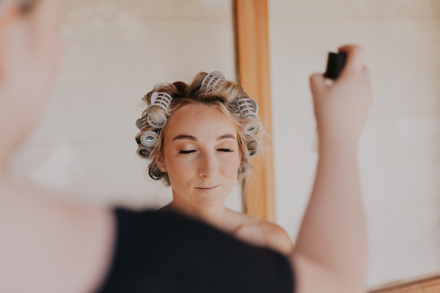 hair curlers for brides