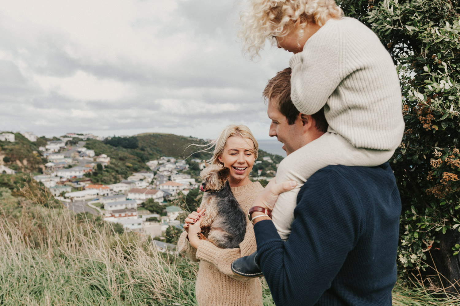 Fun family photos in Wellington
