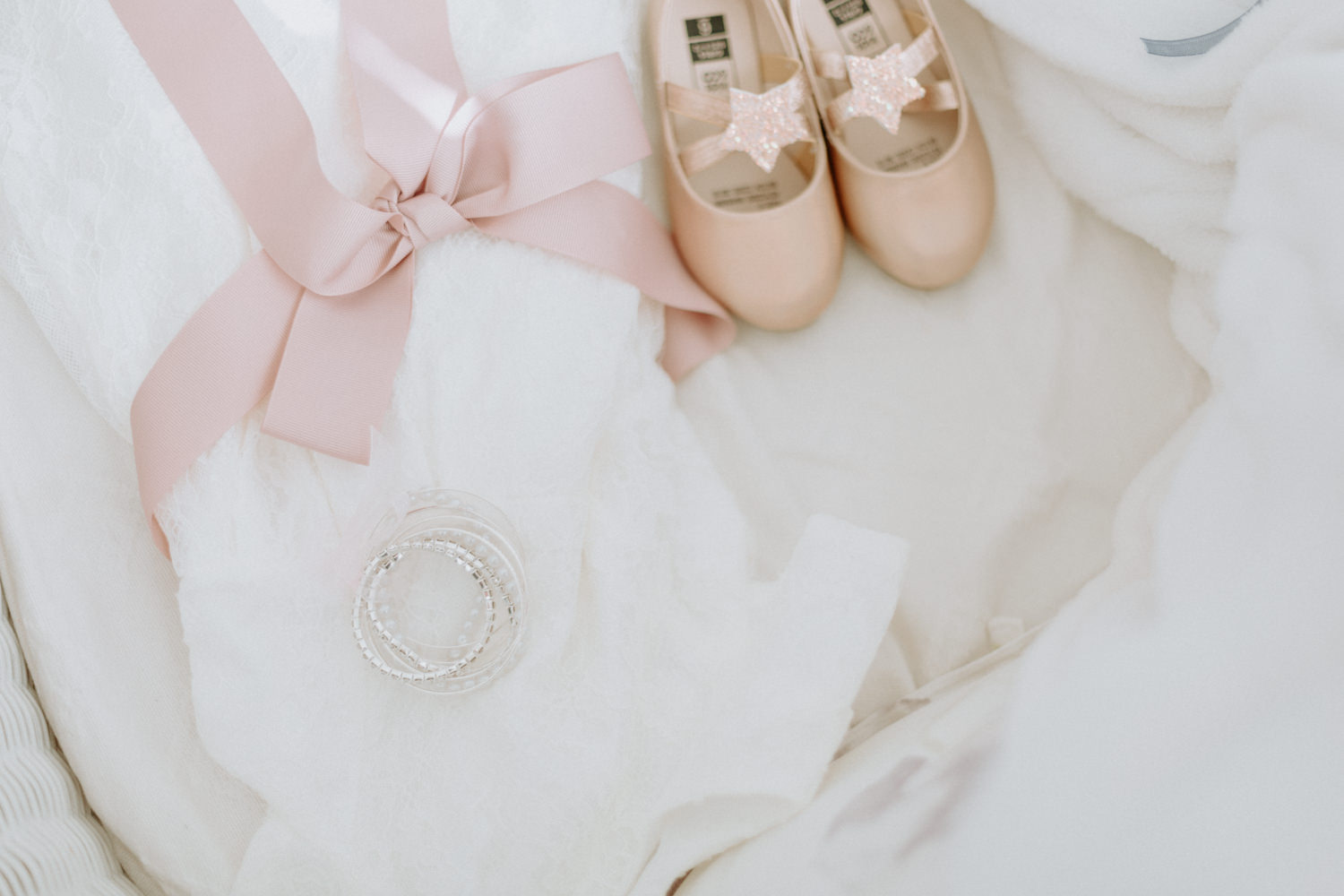 Flower girl dress and shoes