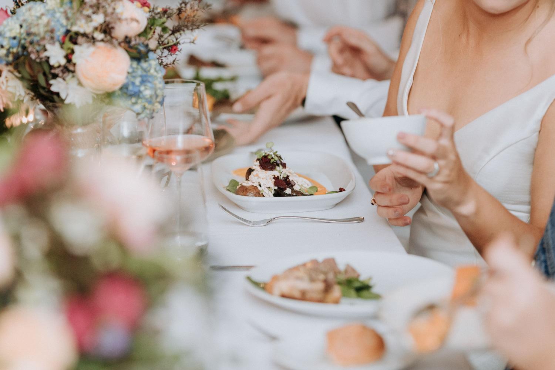 Dinner menu for wedding reception