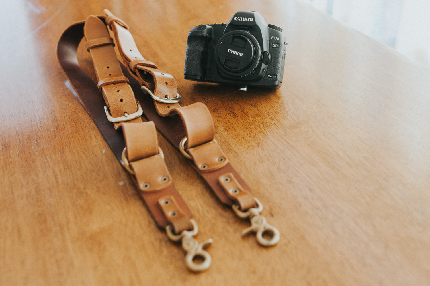 The Knot Leather camera harness