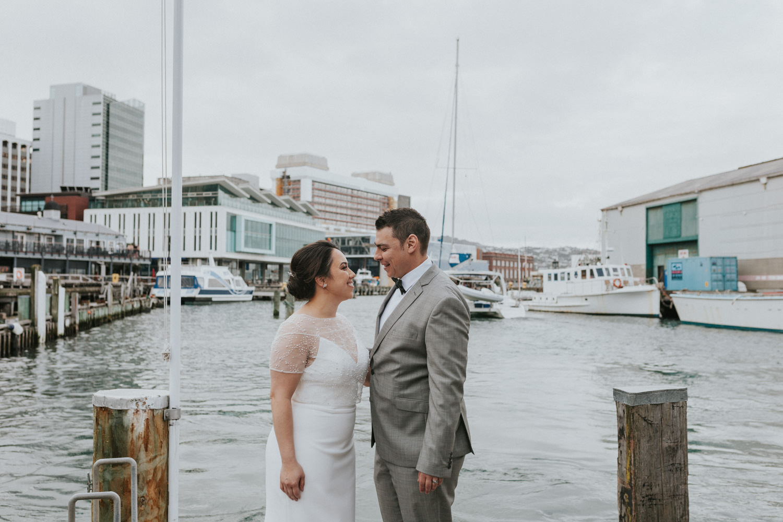 Wellington waterfront wedding photos