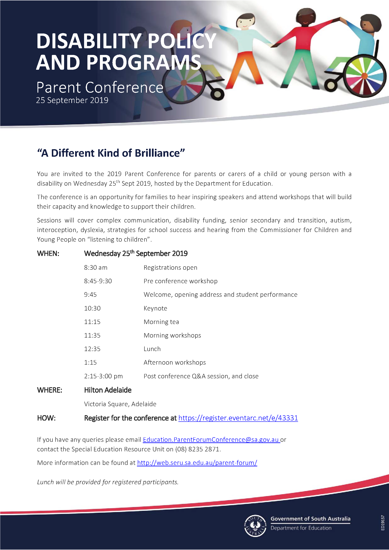 Parent Conference 2019 Flyer Program.png