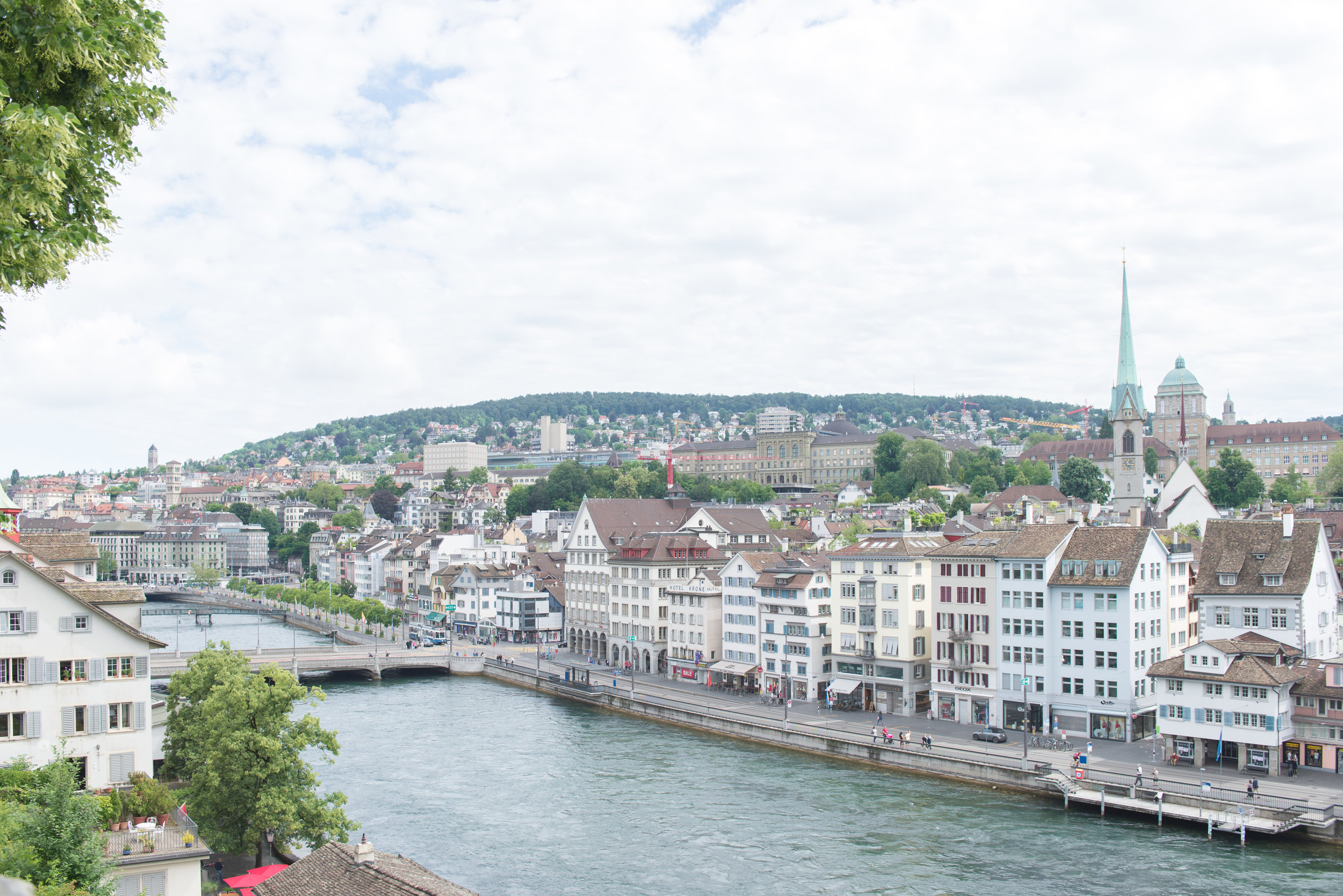 View from Lindenhof Zurich Street Carley Rudd Photography