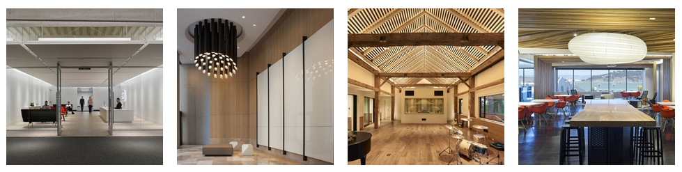 (left to right) 2015 IES-SF Section  First Place Award of Honor Winner : Square Inc. HQ, San Francisco, lighting design by Banks Ramos (Claudio Ramos, Hiram Banks, Erin Sudderth, and Matt Landl);  Second Place Co-Finalist : Two Complimentary Lobbies, San Francisco, lighting design by Melinda Morrison Lighting Design (Melinda Morrison);  Second Place Co-Finalist : Sonoma Recording Studio, Sonoma County, lighting design by PritchardPeck (Jody Pritchard and Kristin Peck);  Third Place : Autodesk HQ, San Rafael, lighting design by Birkenstock Lighting Design (Inga Birkenstock, Jonas Kuo, Hasan Sanli, and Kristin Bibat)