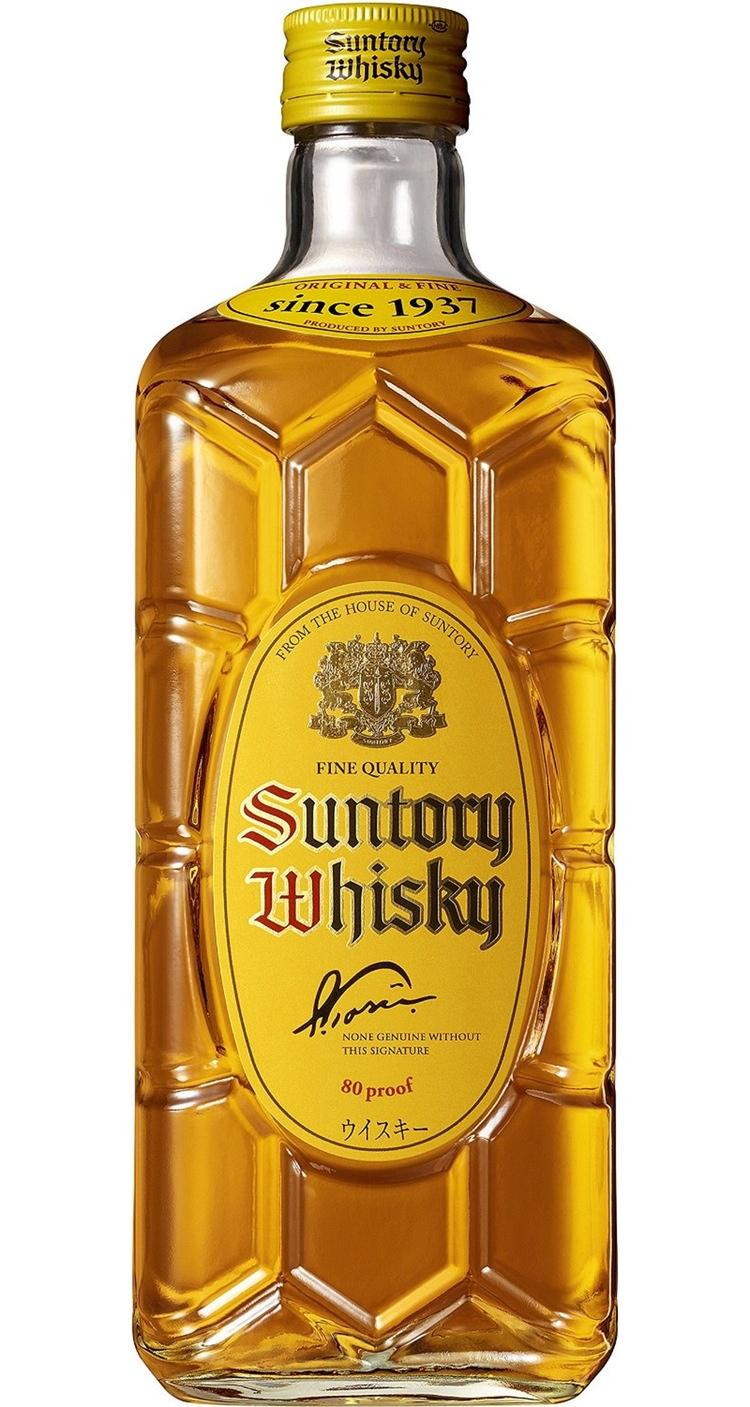 Suntory Kakubin (flaska med hörn) - billig, massproducerad och populär; serveras oftast utblandad med sodavatten.
