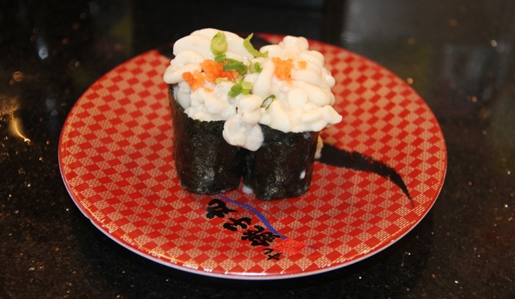 Shirako - torskmjölke, här i form av sushi.  Foto: Arashiyama, Creative Commons License