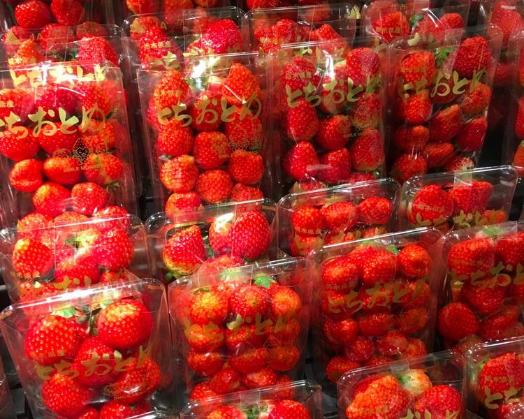 Och här söta jordgubbar från Tochigi prefektur - Tochi-otome..