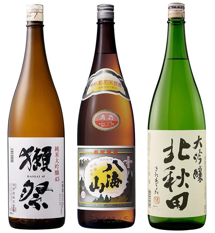 Några av de sake-sorter man kan dricka under innevarande Sake Craft Week i Tokyo.