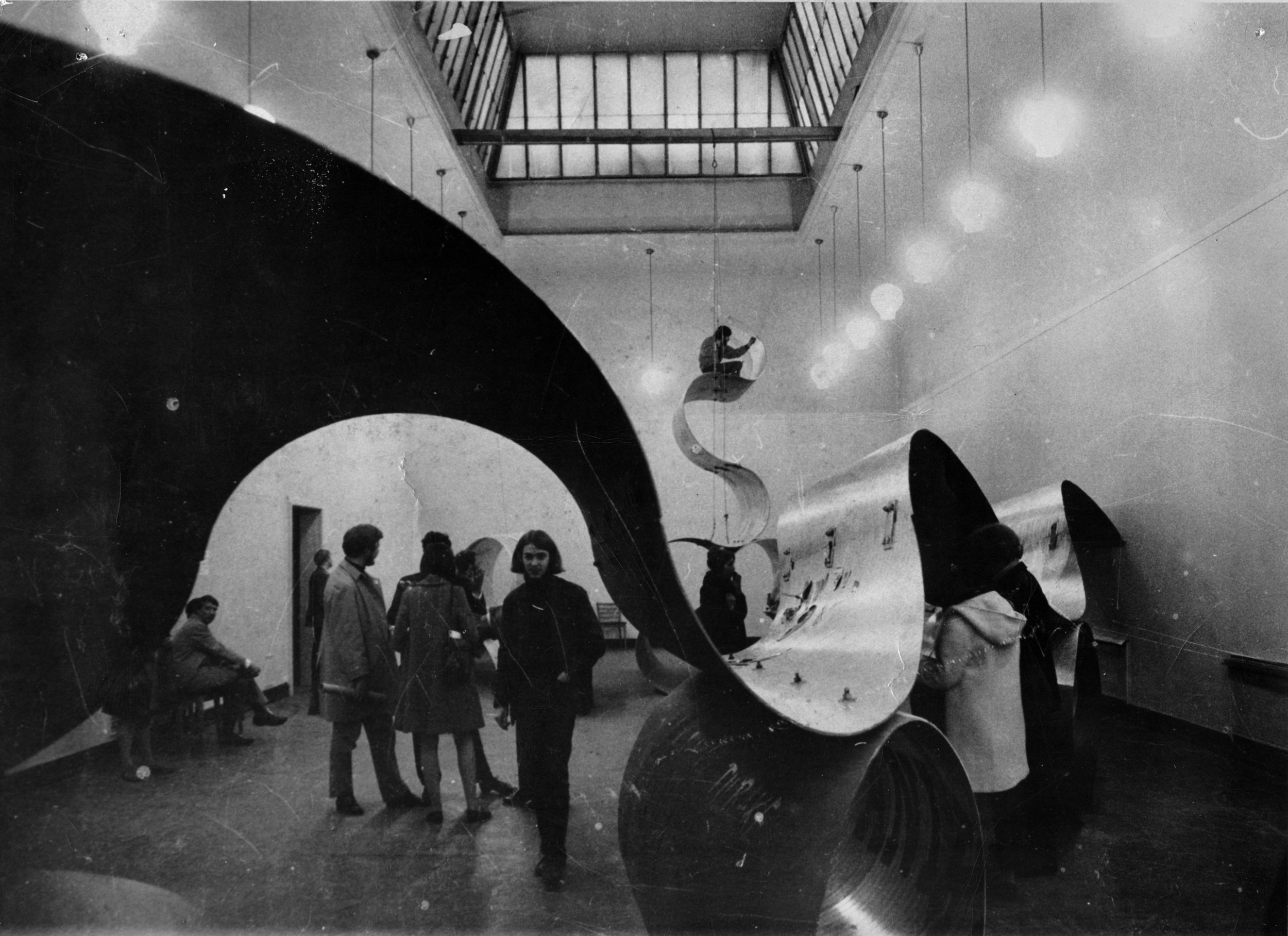 From the opening of Surroundings, Kunstnernes Hus 1969, unknown photographer