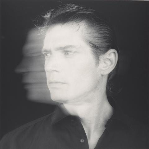 Robert Mapplethorpe,  Self-Portrait  , 1985,Gelatin silver print,Image: 38.7 x 38.6 cm (15 1/4 x 15 3/16 in.)Jointly acquired by the J. Paul Getty Trust and the Los Angeles County Museum of Art, with funds provided by the J. Paul Getty Trust and the David Geffen Foundation, 2011.7.21   © Robert Mapplethorpe Foundation