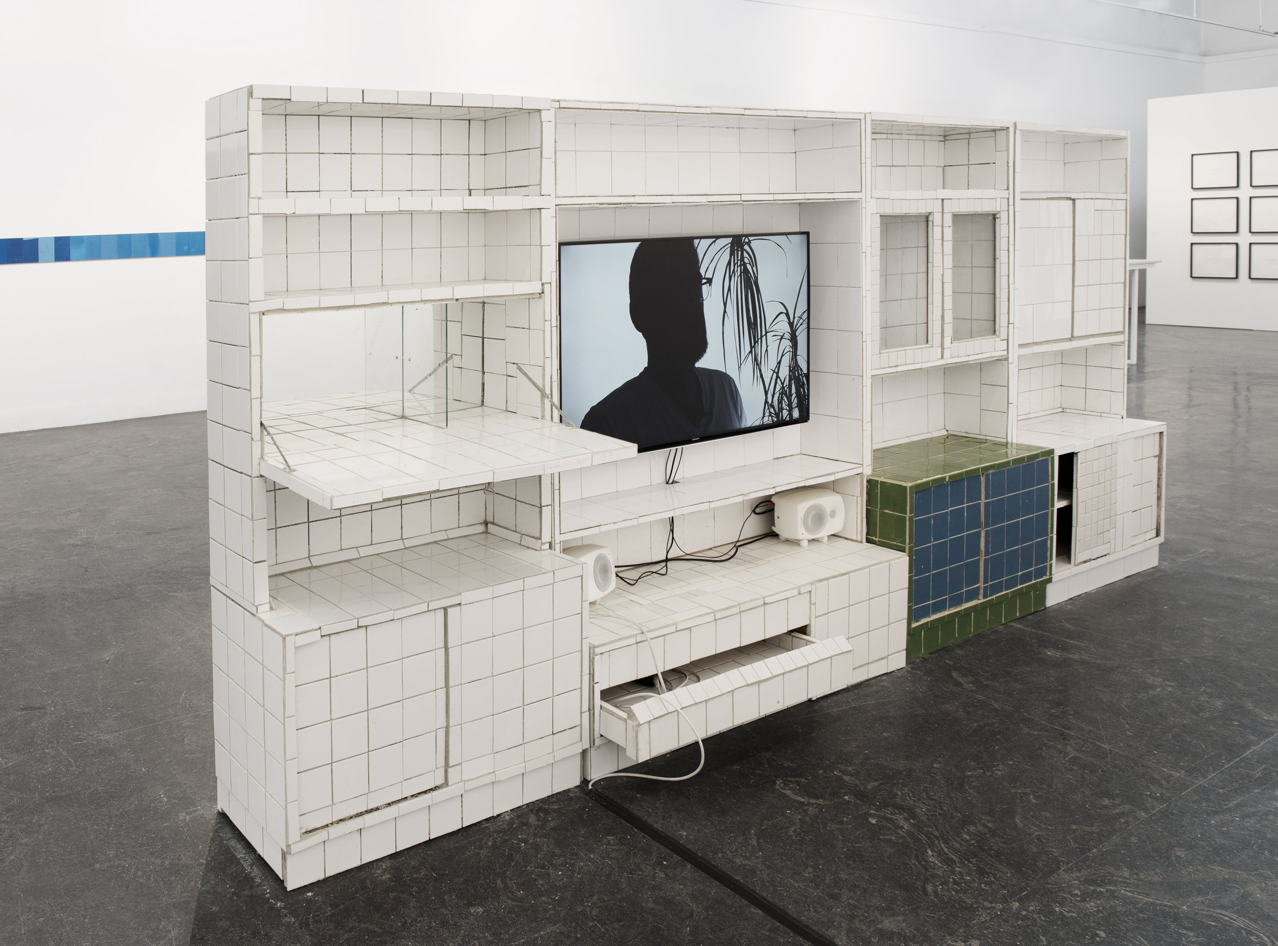 Installation from Europe is Balding , 2016, Matias Faldbakken. Photo by Christina Leithe H.
