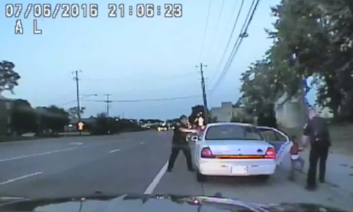 Police car footage of the incident.Photograph: AP