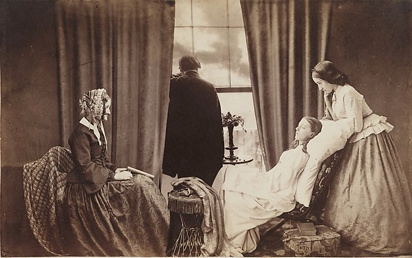 Henry Peach Robinson,  Fading Away,  1858, Albumen silver print from glass negatives, The Royal Photographic Society at the National Media Museum, Bradford, United Kingdom.