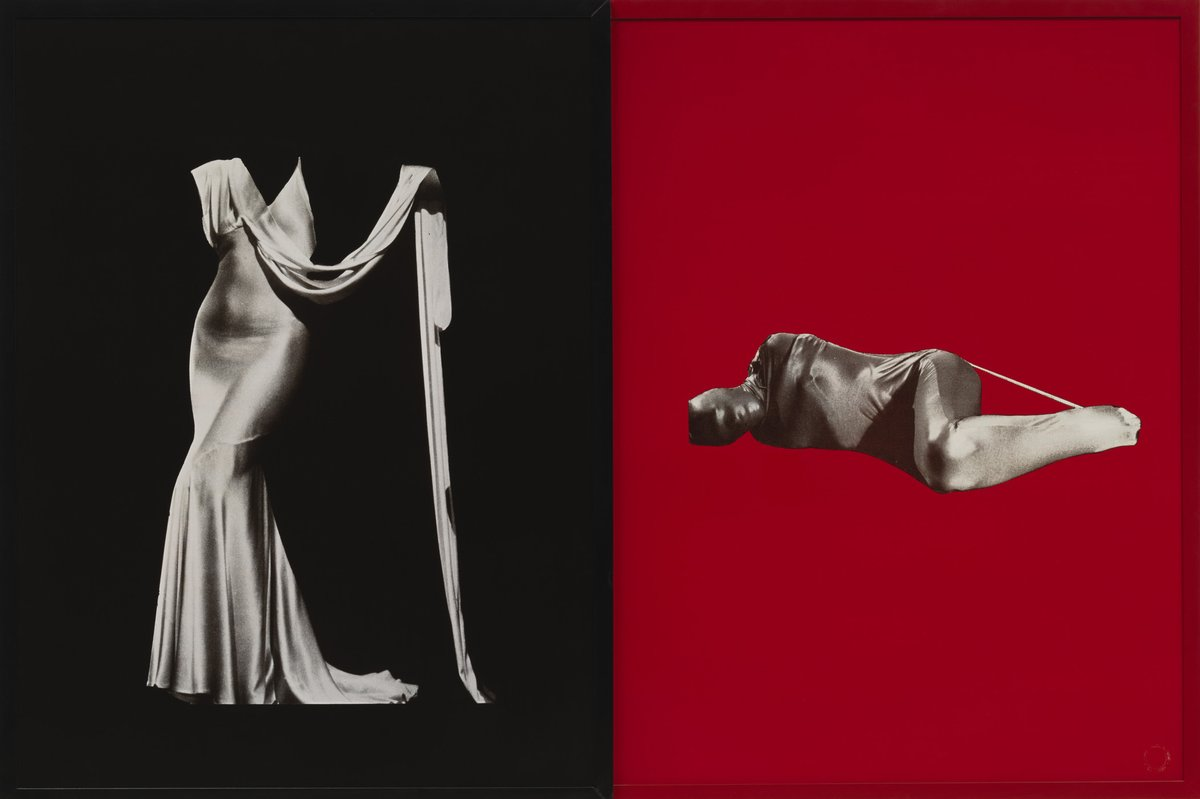 "All images by Sarah Charlesworth.  Figures ,  1983. Cibachrome prints with lacquered wood frames, Diptych, 42"" x 62"".Edition of 3 + 3 APs, LACMA, Los Angeles, CA, MOCA, San Diego, CA. Fotomuseum, Winterthur, Switzerland"