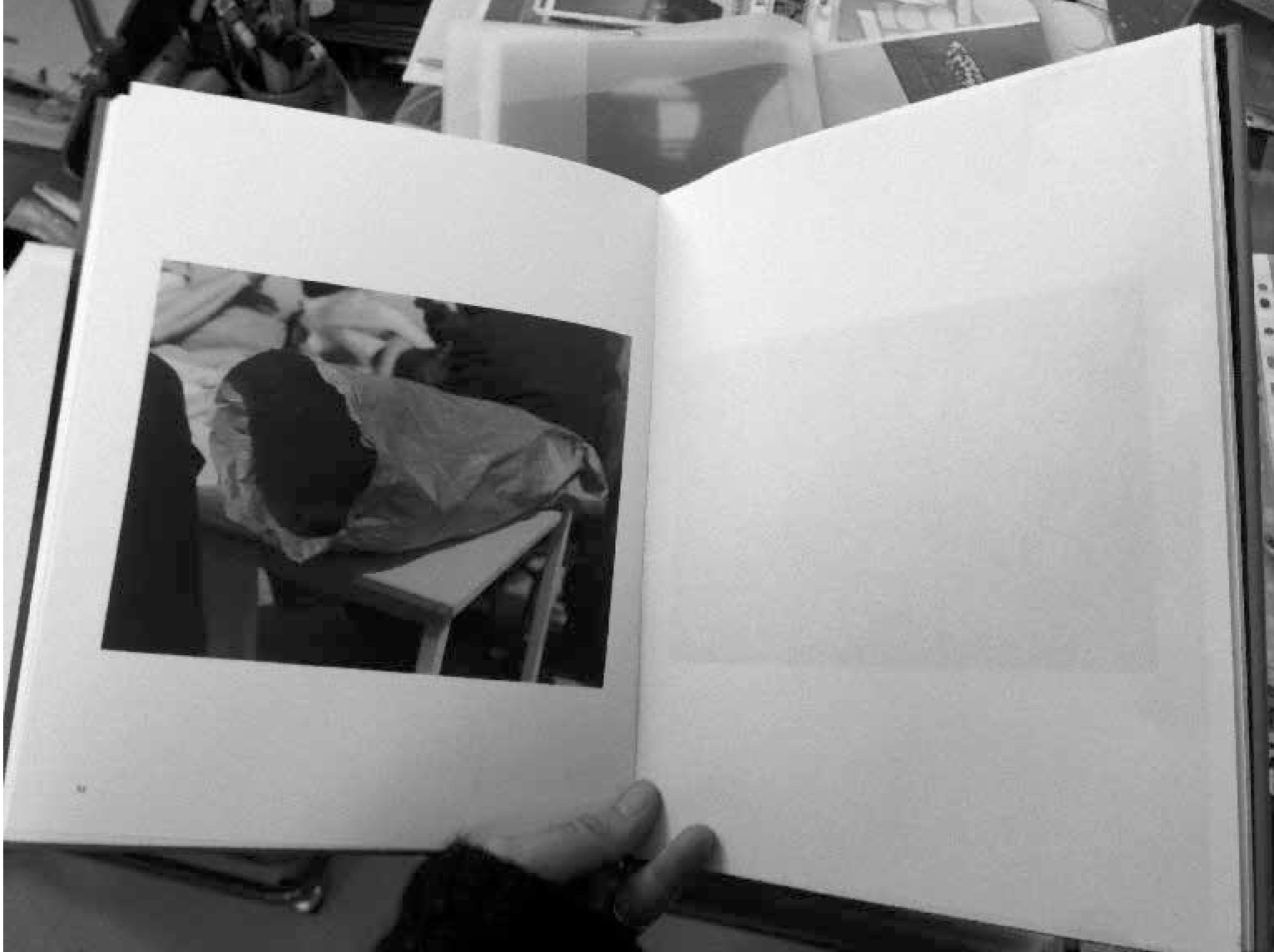 The image is from the book  Tom Sandberg: Photographs 1989-2006 , photographed by Eline Mugaas.