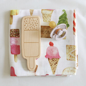 Wooden Teether Ice Lolly The Fox In The Attic