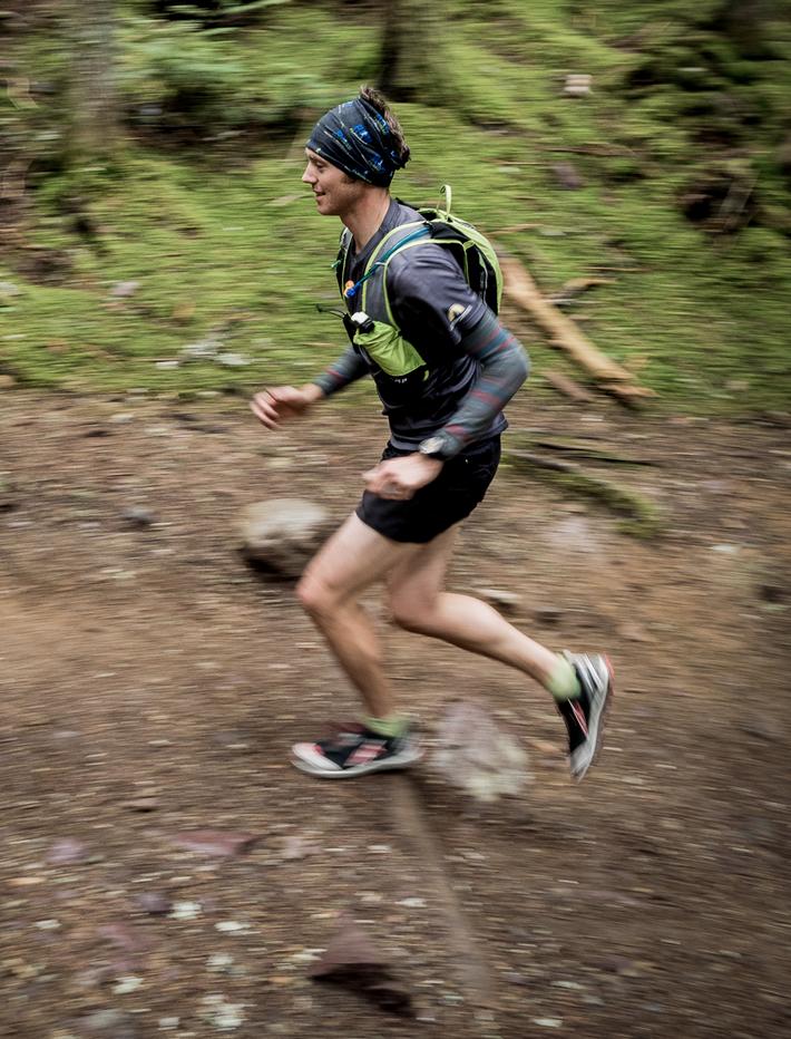RIDGE trail running coach, Burket, logging some miles during a recent training run.