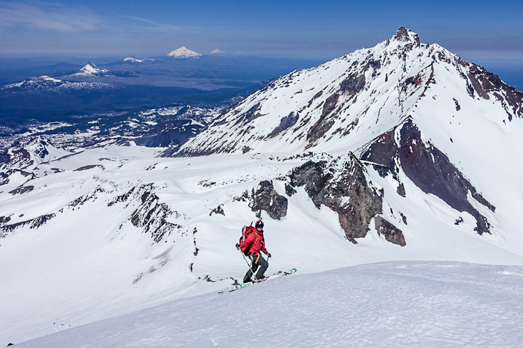 David taking a break- mid run- on The Middle Sister in Oregon. Photo: Brody Leven