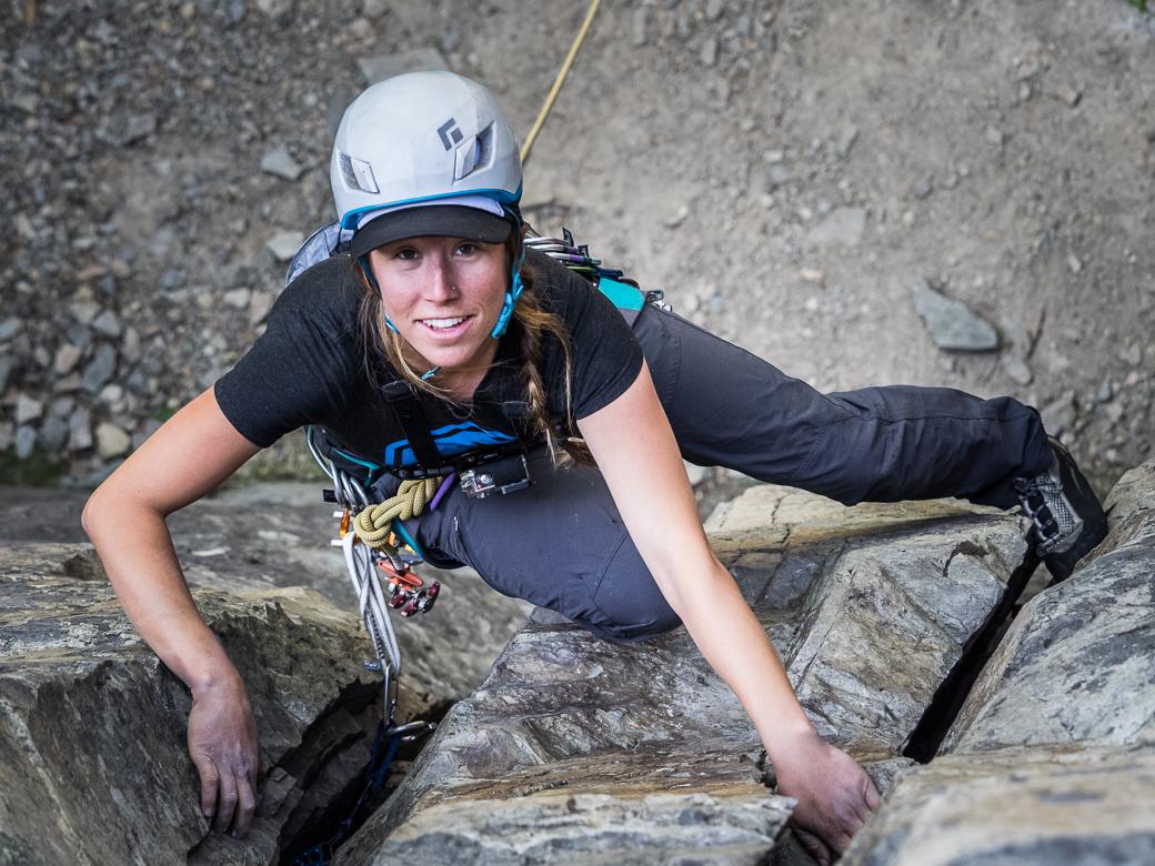 Copy of RIDGE Academy coach climbing near Whitefish, Montana