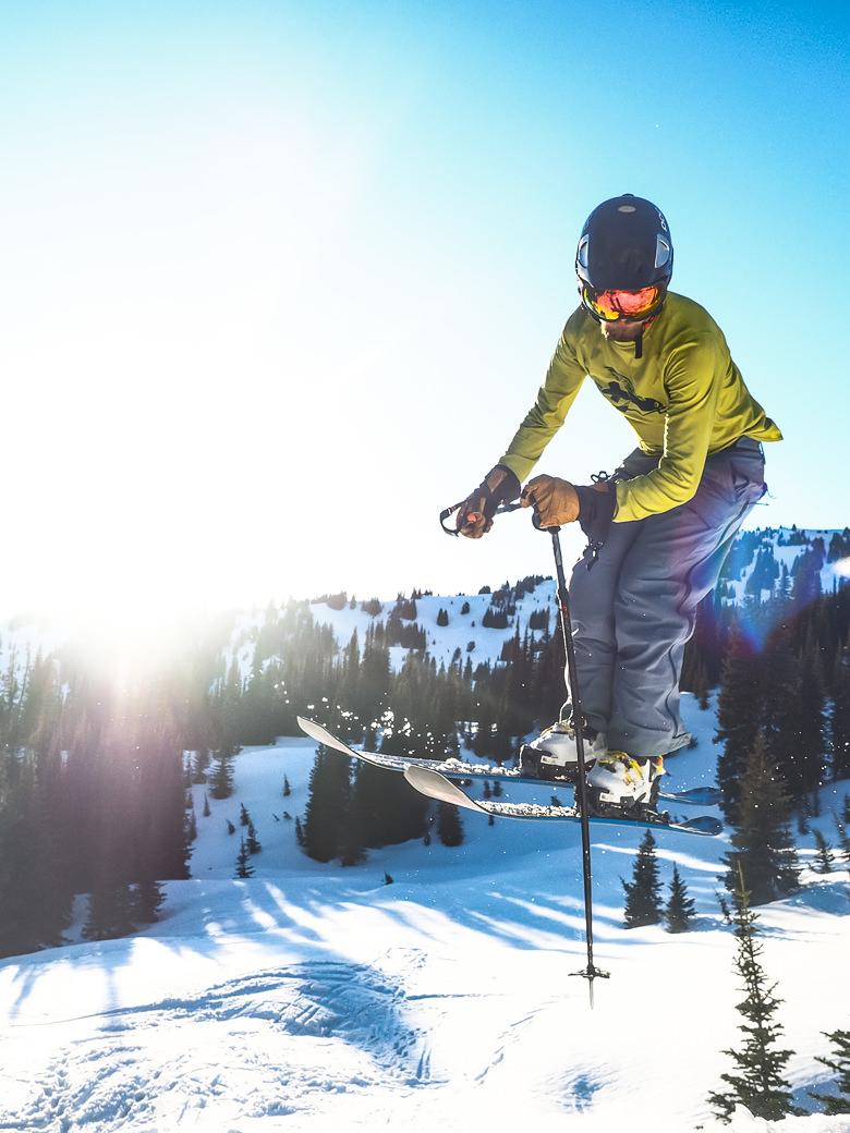 Copy of RIDGE Ski Academy student athlete hitting a jump during a gap year skiing semester
