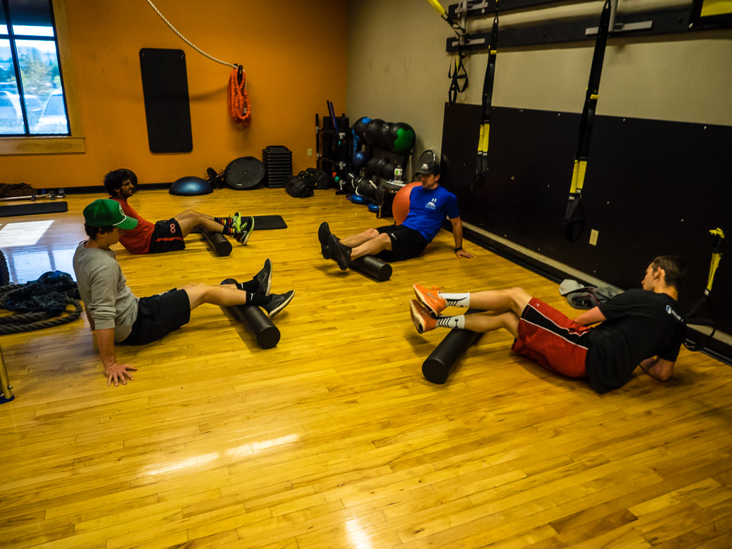 Student athletes training during a skiing gap semester