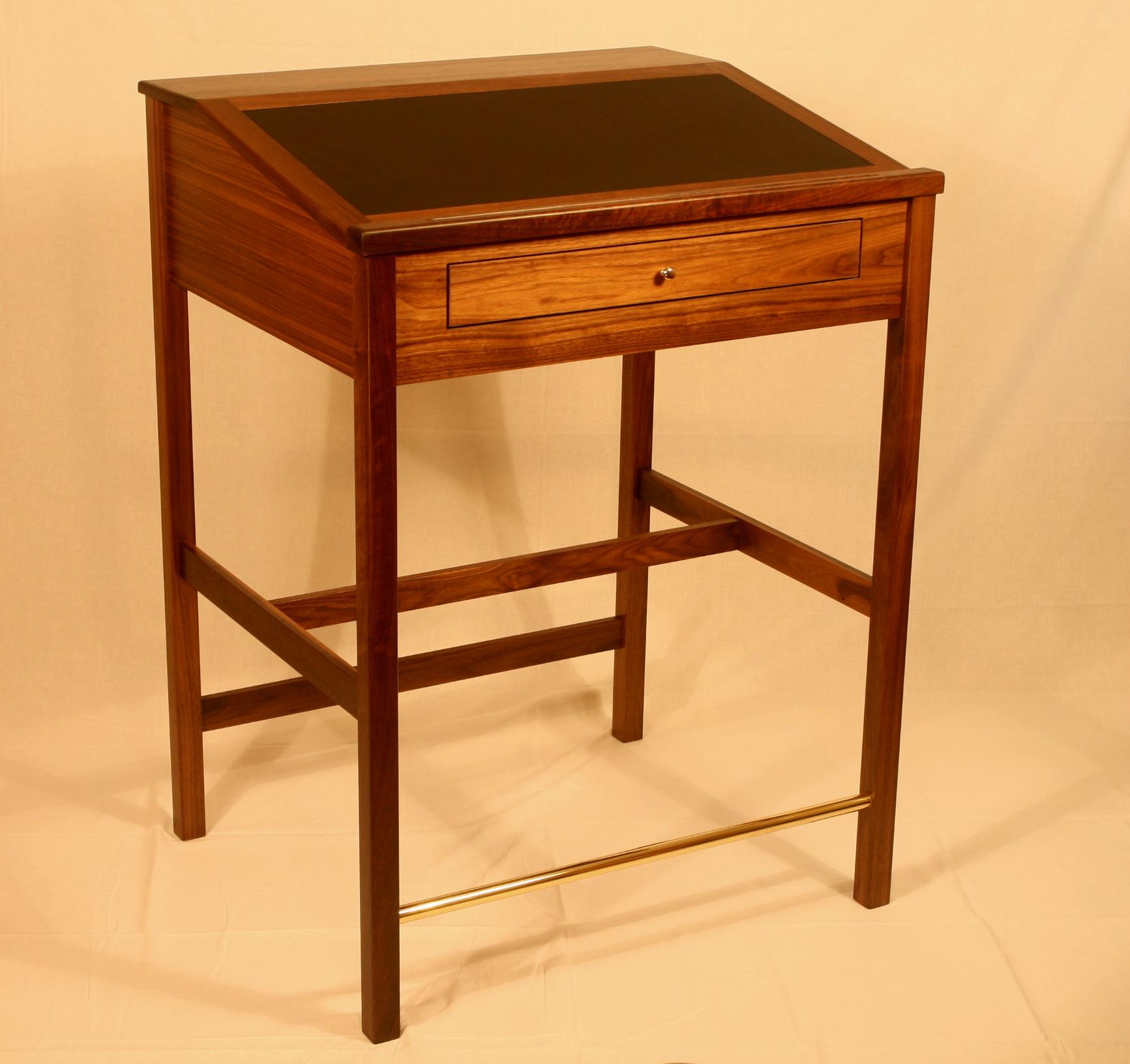 """36"""" Walnut drawer Desk.   Desk 5   Click picture to enlarge"""