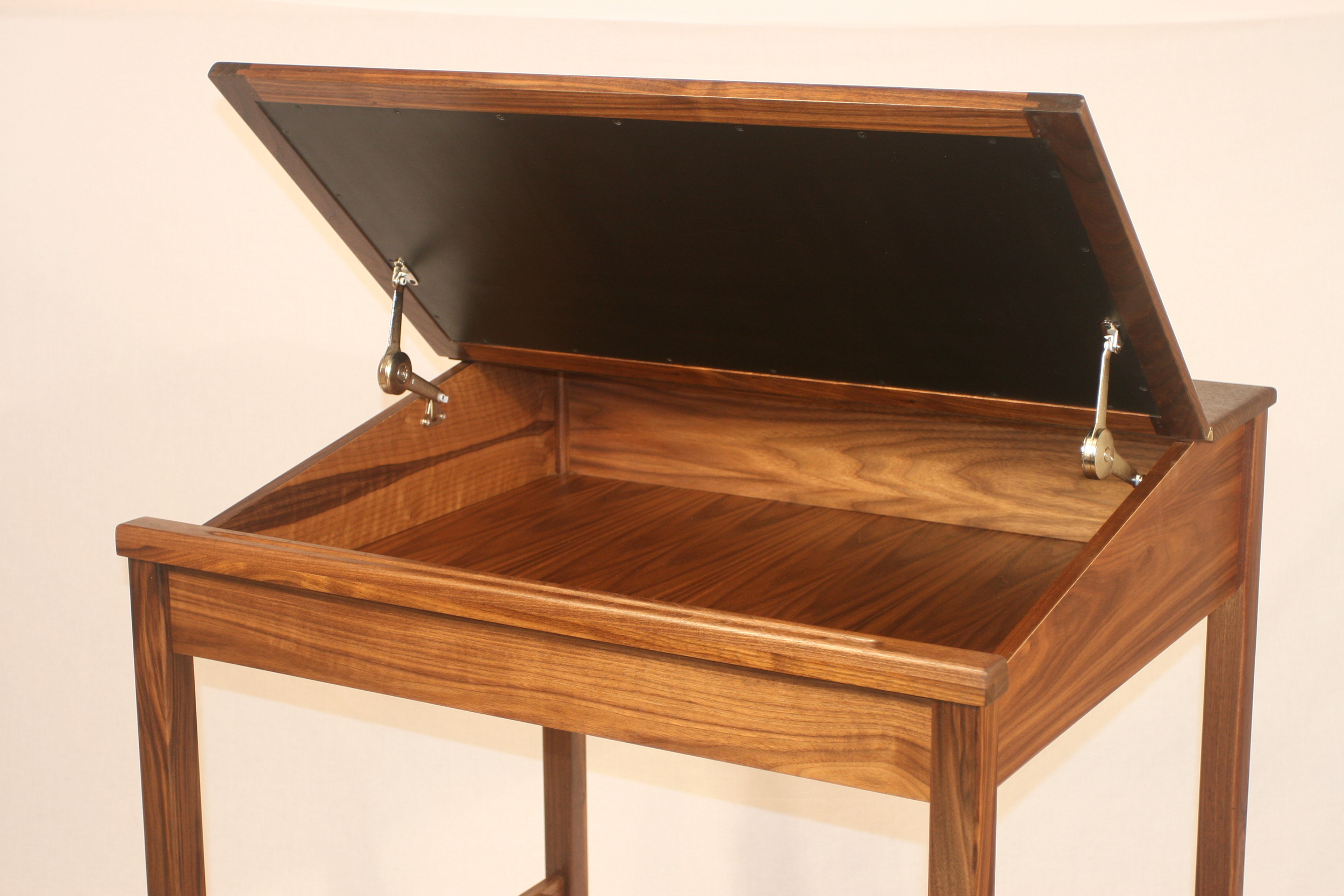 """36"""" Walnut interior view.   Desk 6   Click picture to enlarge"""