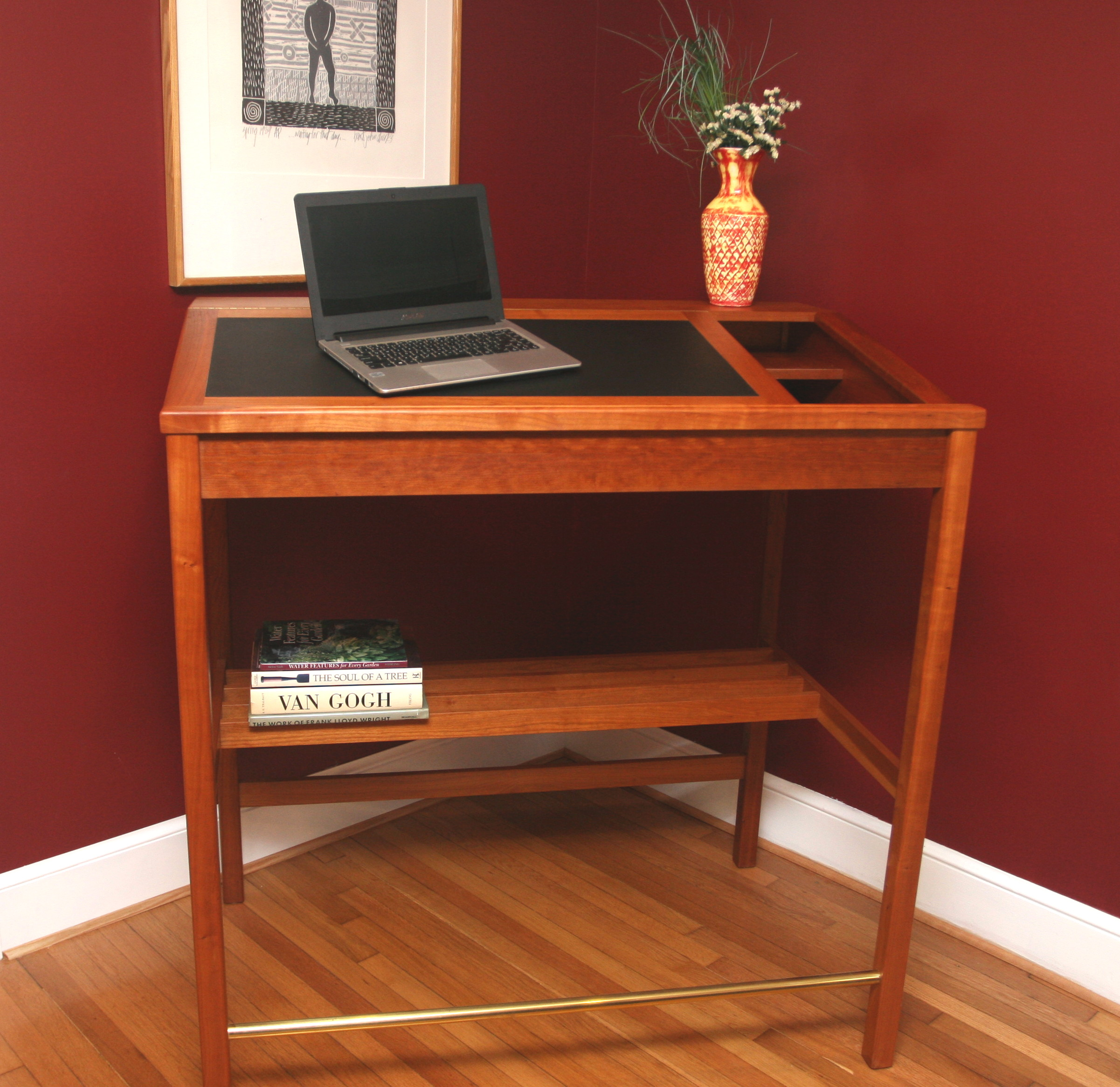 """48"""" Cherry Desk.   Desk 2   Click picture to enlarge"""