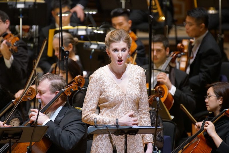 Amanda Majeski as Gutrune in  Gotterdämmerüng  with the Hong Kong Philharmonic Orchestra. Photograph © Ka Lam