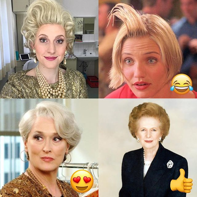First day in costume! Who do I remind you of? Take your pick 🤣🤣🤣 #opera #operasinger #funwithcostumes