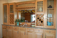 Wet Bar Hutch with Wine Rack