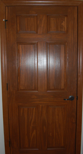 Opt. Solid Pine Wood Cherry-Stained Door