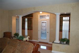 Double Column Wall (Corian or Laminate Top)