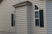 Optional Exterior Bump-out for Fireplace with Roof