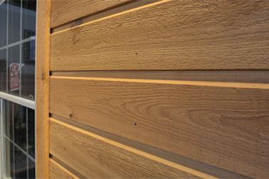 Close-Up Profile of Cedar Siding Profile