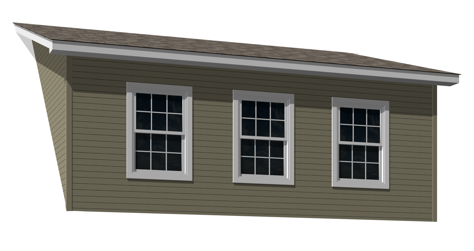 Shed dormer - Any window combination available