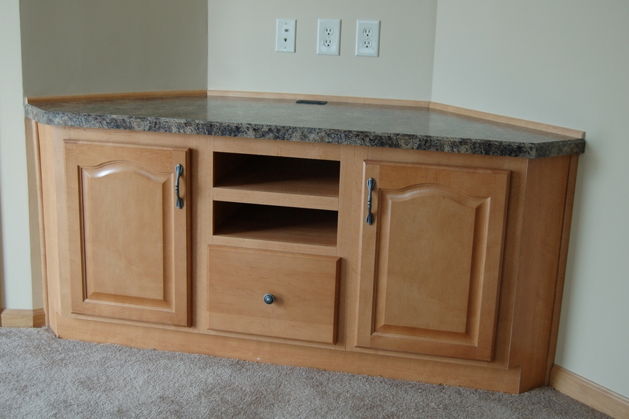 Corner TV Entertainment Cabinet