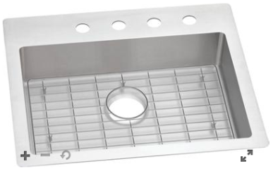 Elkay Stainless 25/22 Single Bowl w/ included grid and drain