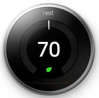 """Nest"" thermostat (stainless steel)"
