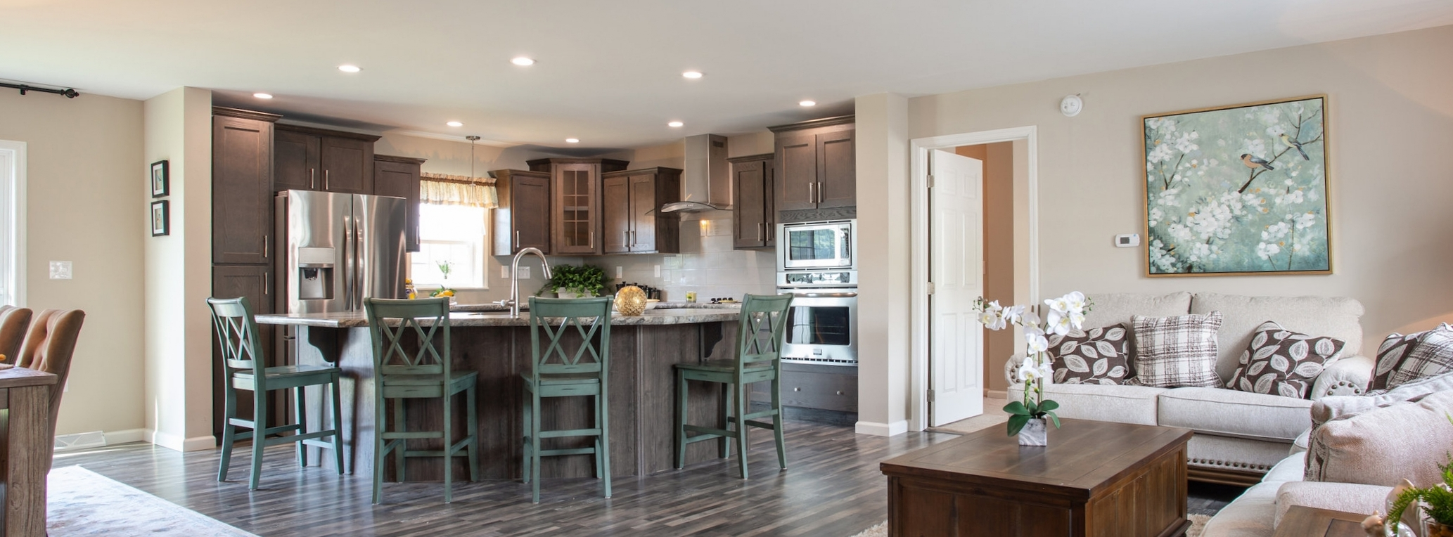 Open Living Area & Designer Kitchen
