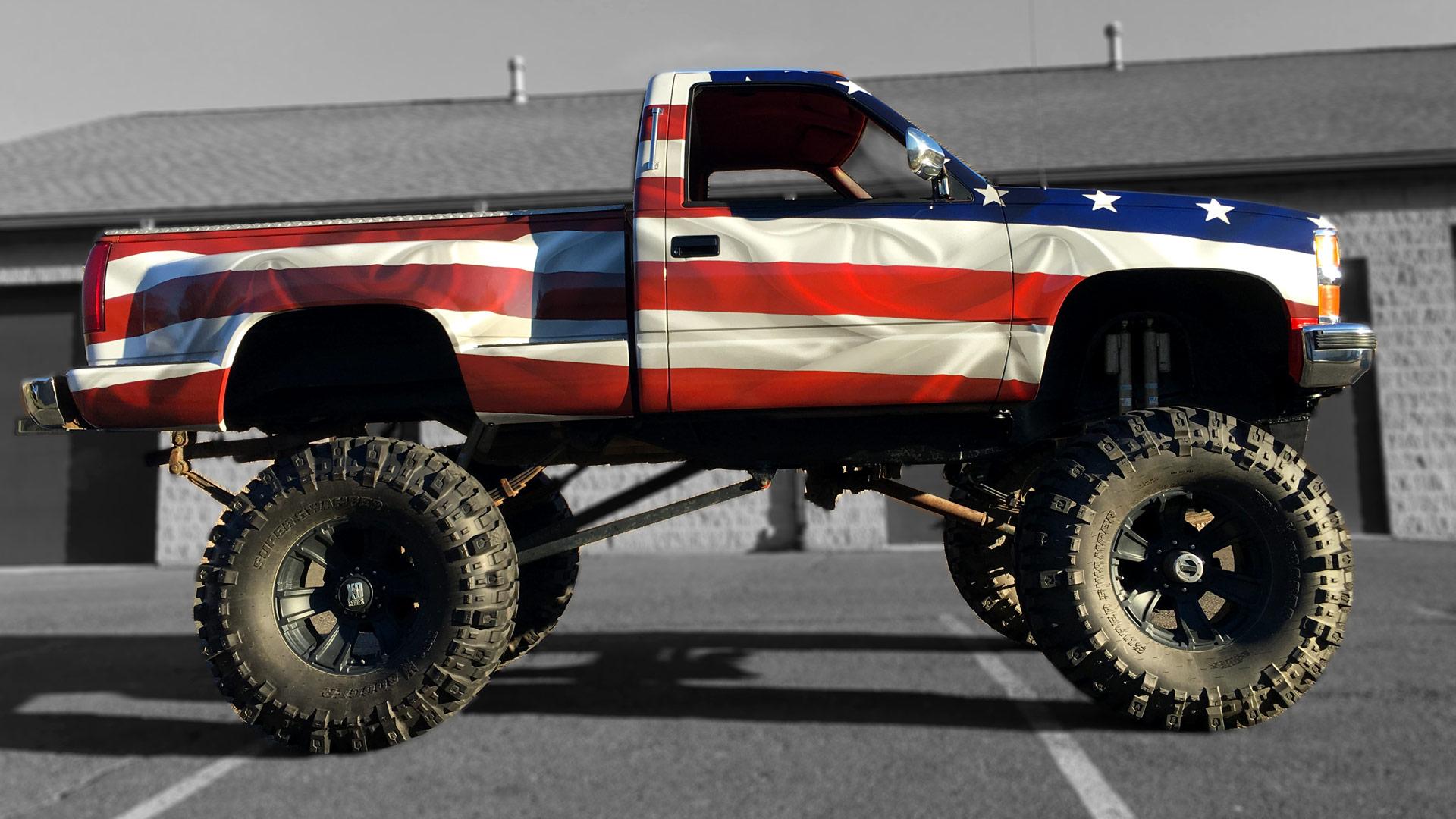American Flag Truck Design