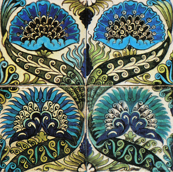 Tiles by Ceramic artist William de Morgan (1839-1917)