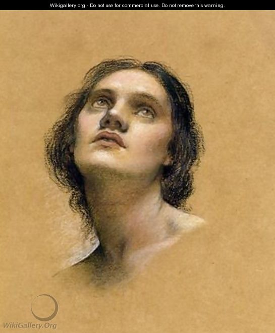 Head study by Evelyn Pickering de Morgan (married to William de Morgan, the ceramic artist)