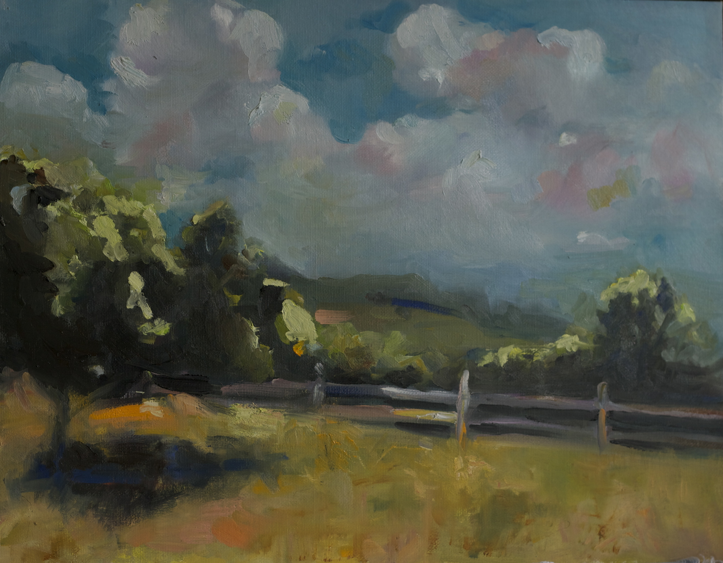 """""""Corum Hill"""" 11 x 16 inch oil"""