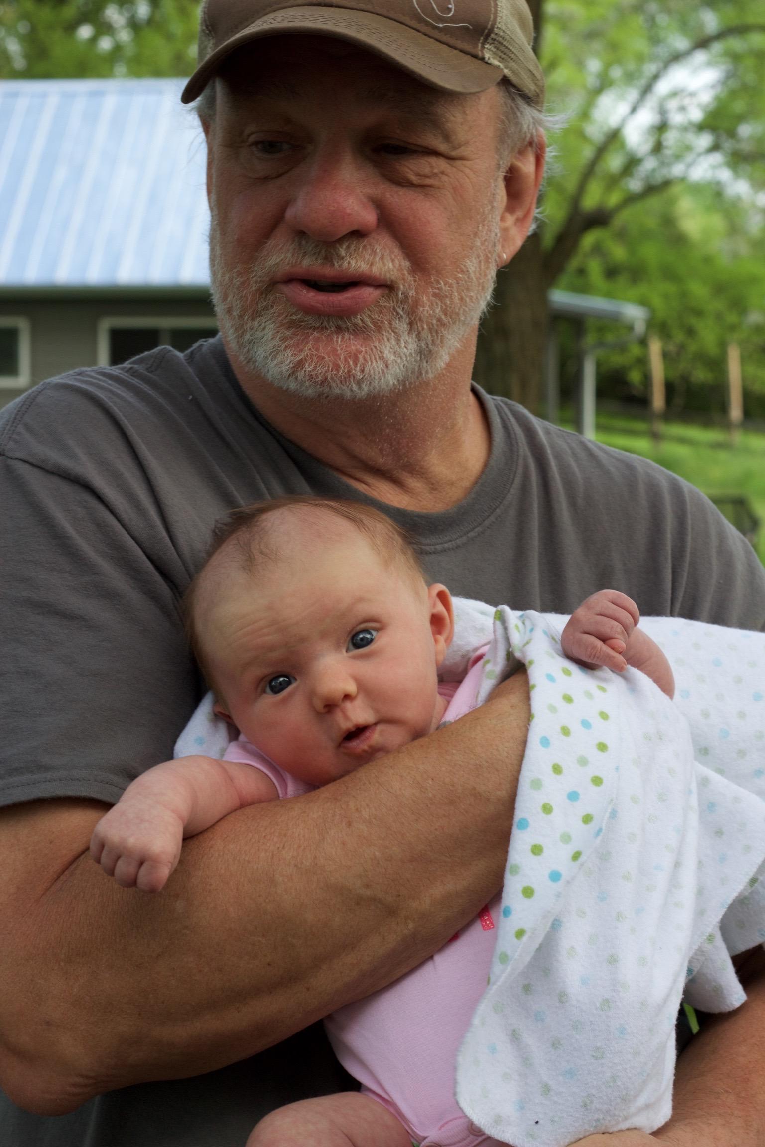 Grandpa and baby Bennett