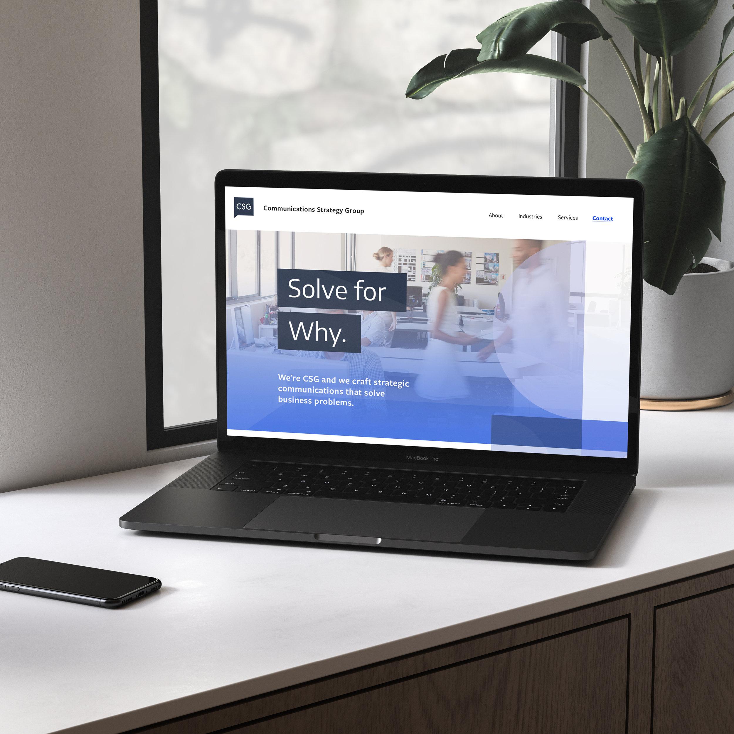 CSG -  website design
